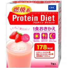DHC 프로틴 다이어트 딸기우유(7봉입)