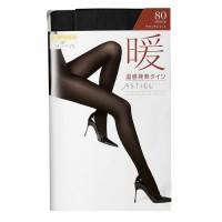 [스타킹]ATSUGI 아츠기 방한 발열 타이즈 暖(난)80D (M-L/블랙)