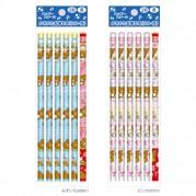 리라쿠마 HAPPY SCHOOL 시리즈 2B연필 2종세트 (핑크&블루)