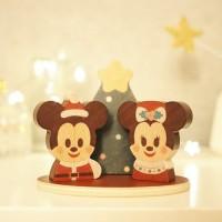 [수량/기간]100%정품 Disney | KIDEA  나무로 만든 미키 미니 크리스마스 선물용